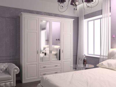 Шкаф-Распашной с Карнизом + Зеркало